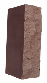 Кирпич СЛКР 150/35 силикатный рустированный коричневый прямой