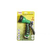 Пистолет-распылитель пластиковый с регулировкой подачи воды(7 режимов распыления) арт.TG7201001