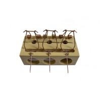 Мышеловка деревянная тройная арт.TG8002092