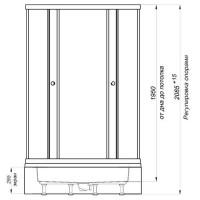 Душевая кабина Triton Классика В1 (мозайка) 100х100