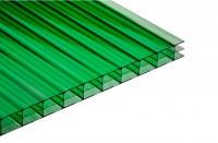 Поликарбонат сотовый 4 мм зеленый