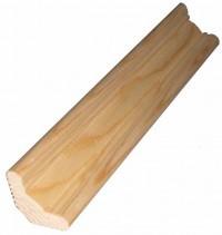Плинтус деревянный напольный сорт В длина 3м