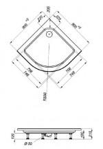 Душевой уголок Triton Стандарт А1 90x90