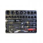 Набор инструментов ударный 1/2''27пр. (головки 8-32мм,трещотка,вороток.удлинитель,кардан,свечная головка) арт.4027